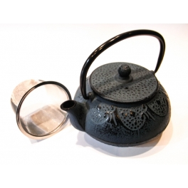 Blue Cast Iron Teapot - 0,6 L.