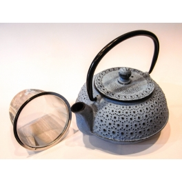 Light-blue Cast Iron Teapot - 0,6 L.